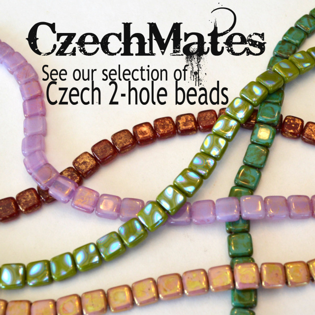 Czech Mates - see our selection of Czech 2-hold beads. Available in many colors.