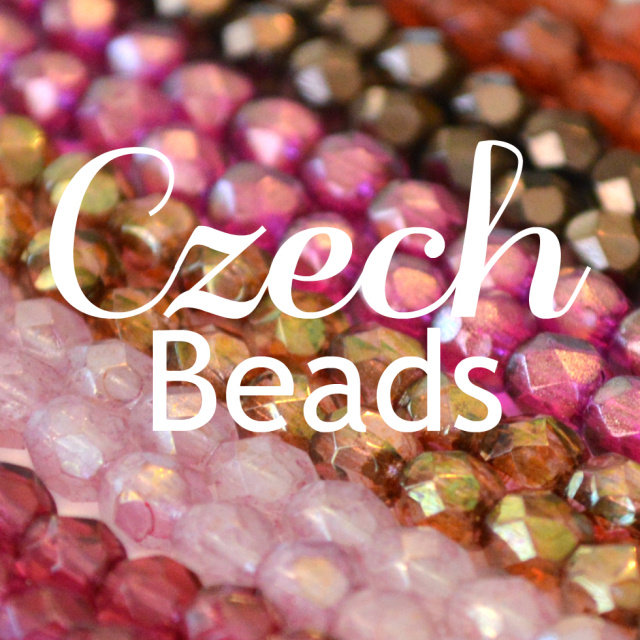 Czech fire polish beads in multiple colors