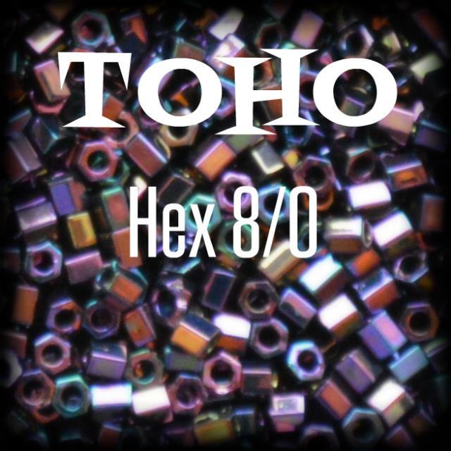 Toho hex size 8 seed beads