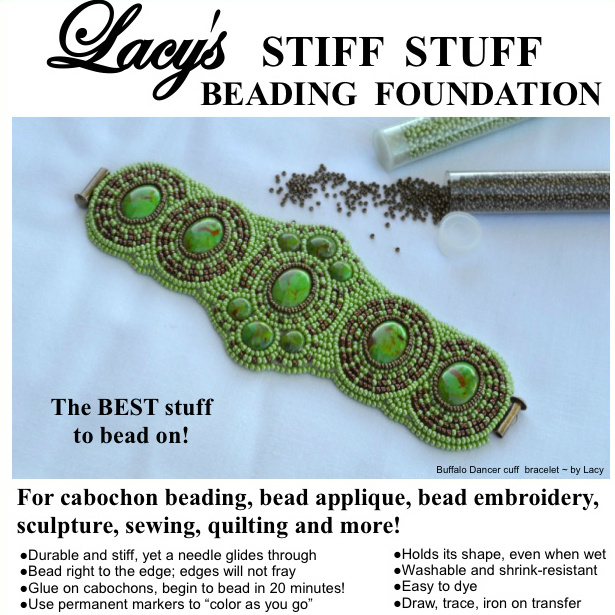 Lacy's Stiff Stuff, the best stuff to bead on - premium beading foundation, beading substrate.