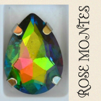 Rose montes for beading and making jewelry.
