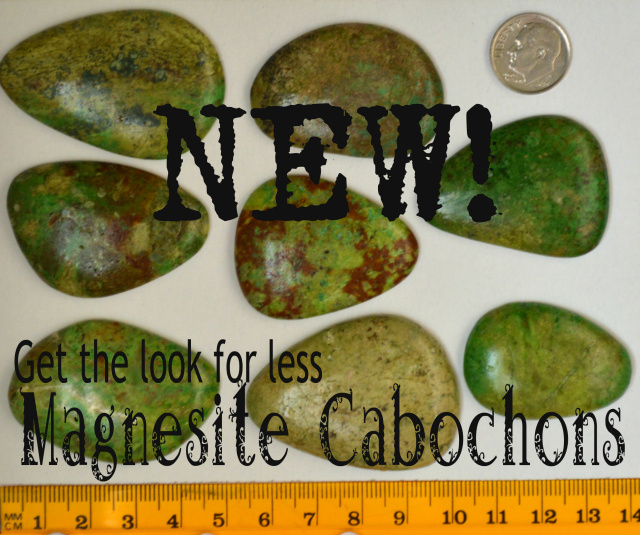 Magnesite cabochons, get the look for less. Cabs for jewelry making and bead embroidery.
