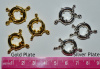 Big Spring Ring Clasp, 15mm, pack of 3, choice of color