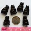 "Czech Glass Black Cat ""Reagan"" Beads - 6 pack"