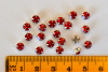 Rose Montees, Siam Ruby, 4.6mm, Package of 20 or 100