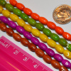 Composite Barrel Beads - 8x5mm - Choice of 5 colors