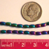 "Hematite Rainbow Electroplated Beads, 5x3mm Tiny Barrel Shape, 16"" Strand"