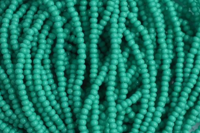 Opaque - Green Turquoise Czech 11/0 Seed Beads