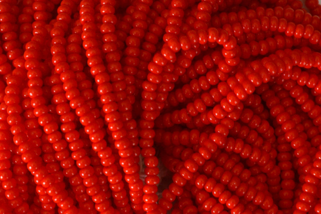 Opaque - Red Czech 11/0 Seed Beads