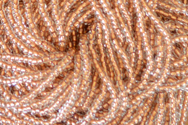 Transparent Copper Lined - Crystal, 11/0 Czech Seed Beads