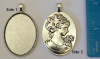 Antique Silver Cameo Cabo
