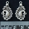 Antique Silver PEACOCK Charms - pack of 8