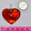 Handmade Red Glass Heart Pendant, choice of color