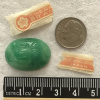 VINTAGE! Cherry Brand Glass Scarab Cabs from Occupied Japan - 25x18mm