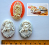 Resin Cameo Cabochons, 40x30mm, choice of design - RELIGIOUS