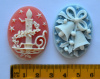 Resin Cameo Cabochons, 40x30mm, choice of design - CHRISTMAS