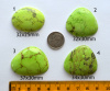 Magnesite Cabs - Lime w/Black Spiderweb Inclusions - your choice